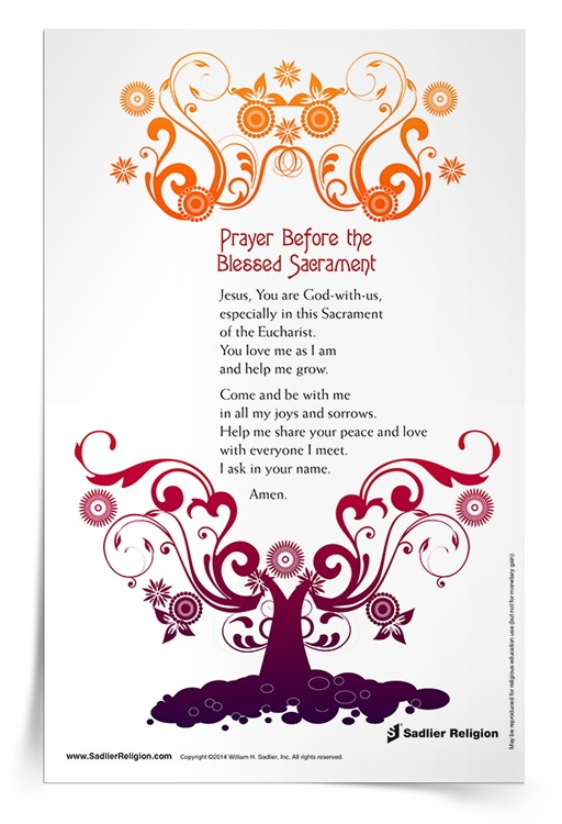 <em>Prayer Before the Blessed Sacrament</em> Prayer Card