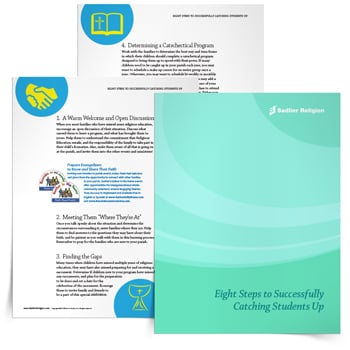 Download a helpful Eight Tips to Successfully Catching Students Up eBook to welcome such students into the parish community while ensuring they have the foundation that they need.