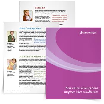 Libro electrónico <em>Seis santos jóvenes para inspirar a los estudiantes</em>