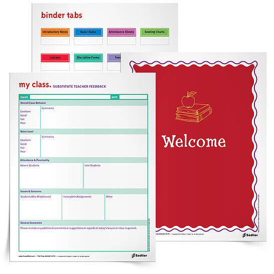 To assist teachers in assembling their substitute binder, I've created printable Substitute Teacher Binder Resources that can be downloaded free of charge.