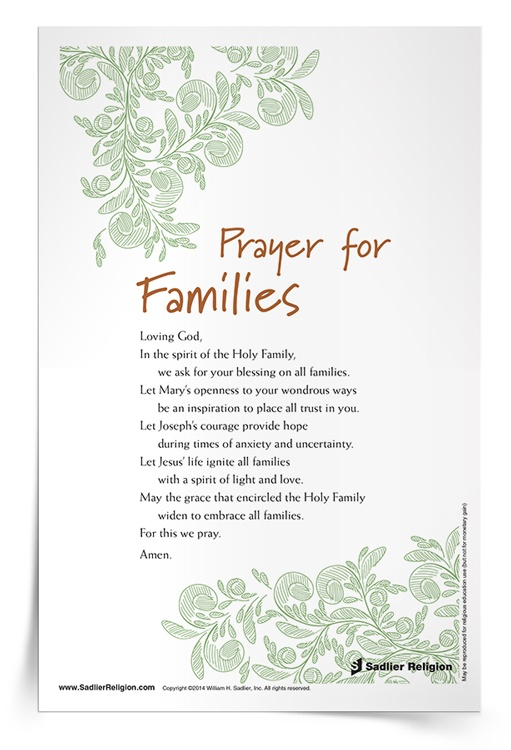 <em>Prayer for Families</em> Prayer Card