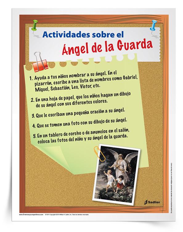 Actividades sobre el <em>Ángel de la Guarda</em>