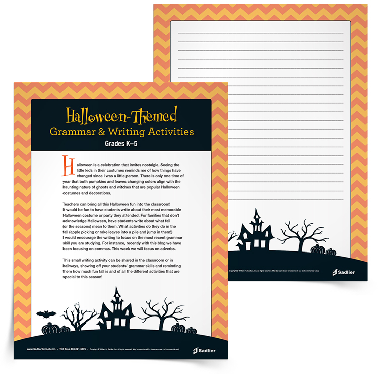 Halloween-Themed-Grammar-and-Writing-Activity