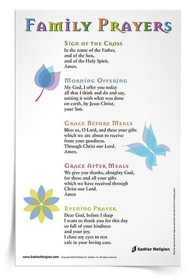 To support prayer during the summer months, share this Family Prayers Prayer Card with the families in your religious education program.