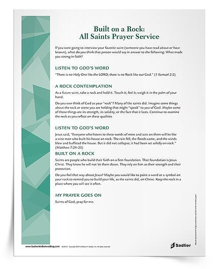 All Saints' Day Prayer Service