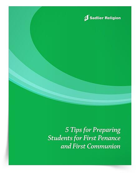 For additional tips on inspiring, preparing, calming, and celebrating with First Penance and First Communion candidates, explore the 5 Tips for Preparing Students for First Penance and First Communion eBook.