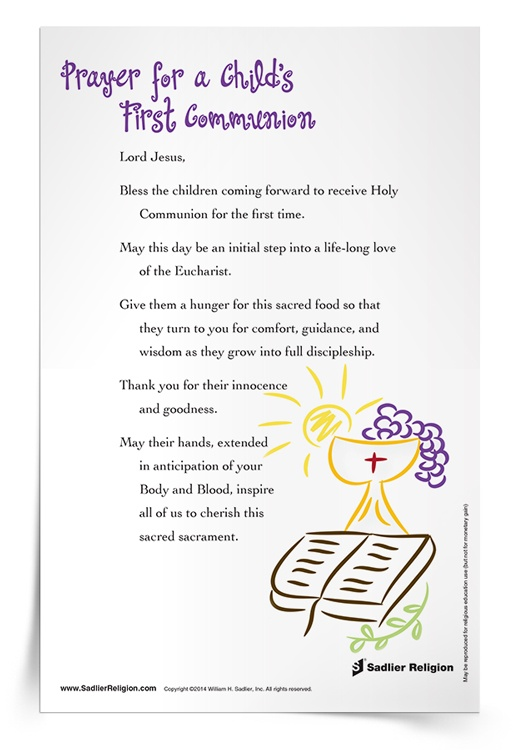 <em>Prayer for a Child's First Communion</em> Prayer Card