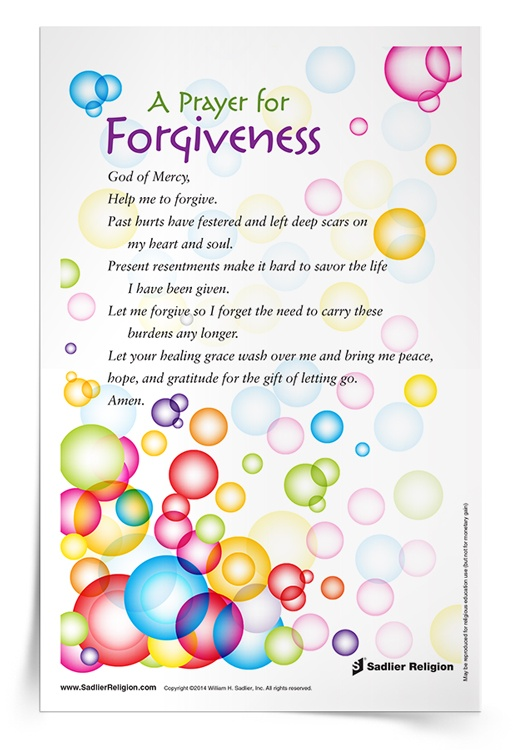 <em>Prayer for Forgiveness</em> Prayer Card