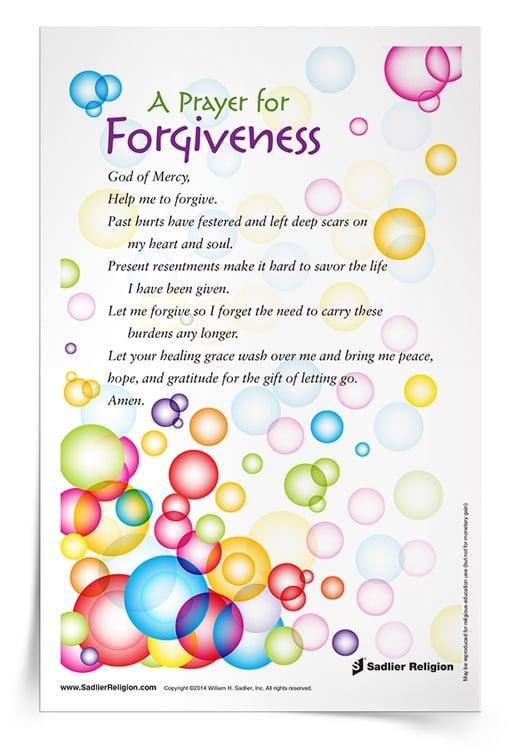 <em>Prayer for Forgiveness</em> Prayer Card