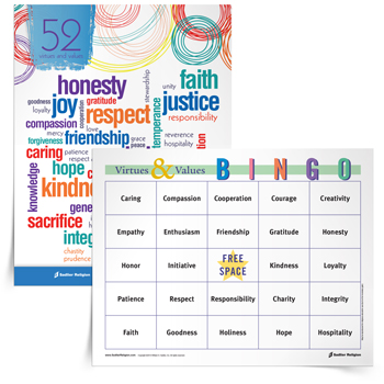 <em>Virtues & Values</em> Bingo Game