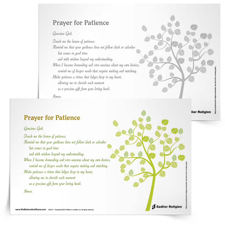 <em>Prayer for Patience</em> Prayer Card