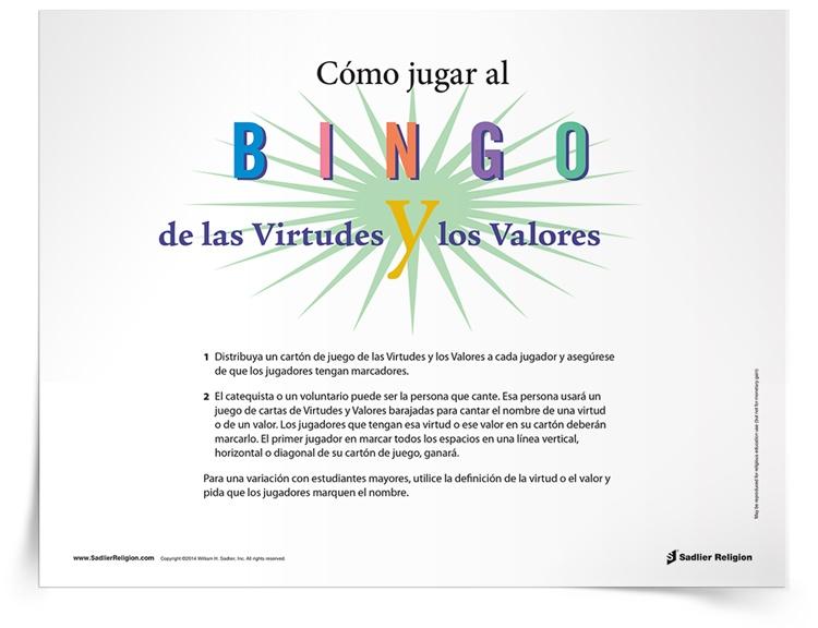 Juego del <em>Bingo de las virtudes y los valores</em> image
