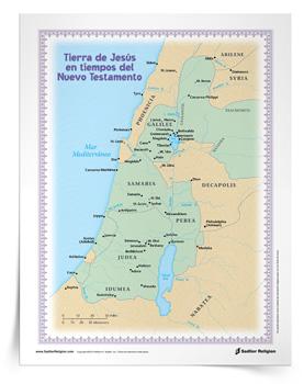 Mapa <em>Tierra de Jesús en tiempos del Nuevo Testamento</em>