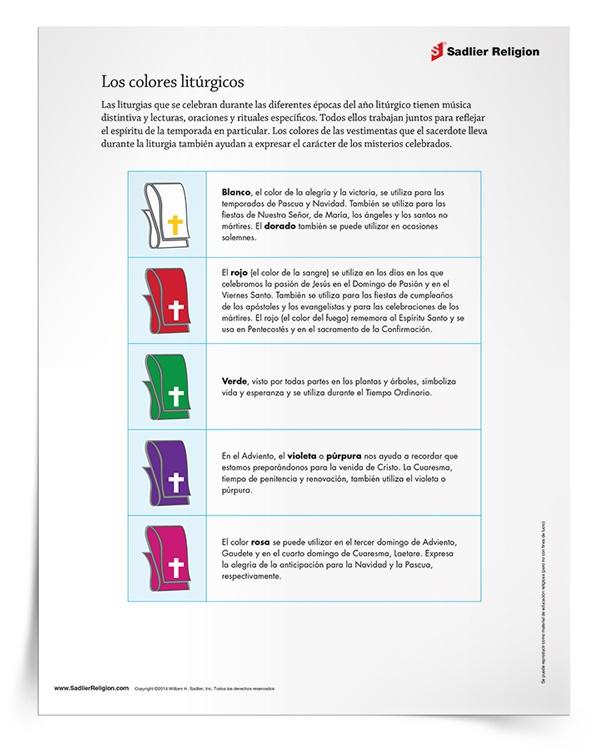 Minilección y actividad de los <em>Colores litúrgicos</em>