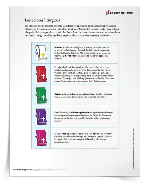 Leccion Y Actividad Para Explicar Los Colores Liturgicos