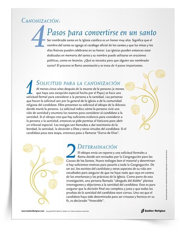 <em>Canonización: 4 pasos para convertirse en un santo</em>