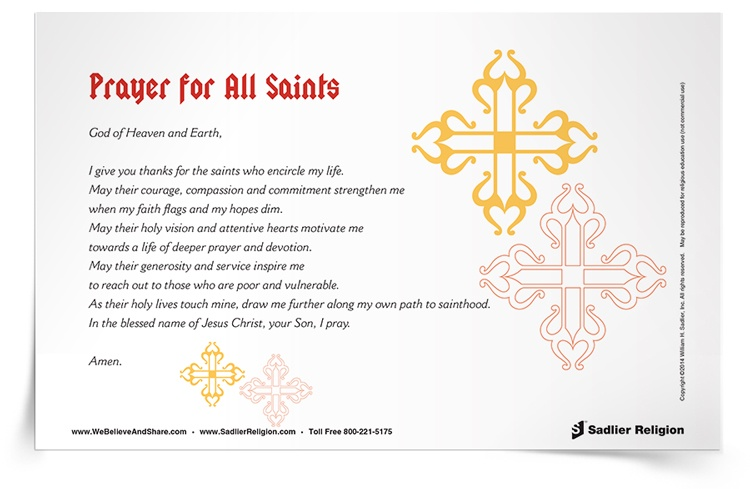 <em>Prayer for All Saints</em> Prayer Card