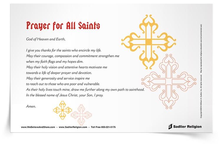 <em>Prayer for All Saints</em> Prayer Card
