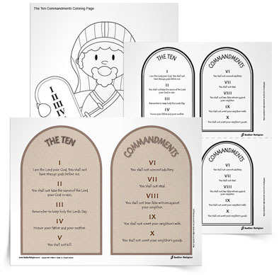 Families can use the resources in the Teaching the Ten Commandments Toolkit as they study the stories of Moses and the Israelites in the Old Testament.