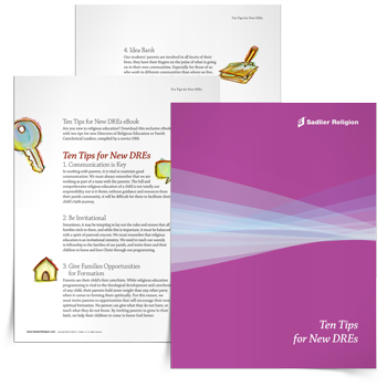 Are you new to religious education? Written for those who are new to this leadership role, the Ten Tips for New DREs eBook was compiled by a novice DRE and includes ten beginner tips written to especially support new parish catechetical leaders.