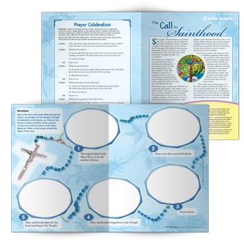 All of us are called to be saints. Download a lesson and mini-poster exploring the lives of saints and the invitation of sainthood. A beautiful prayer celebration concludes the lesson.
