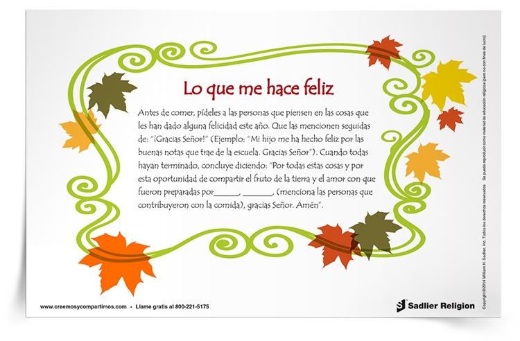 Actividad de <em>Acción de Gracias</em>