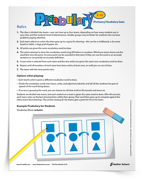<em>Picabulary</em> Vocabulary Game