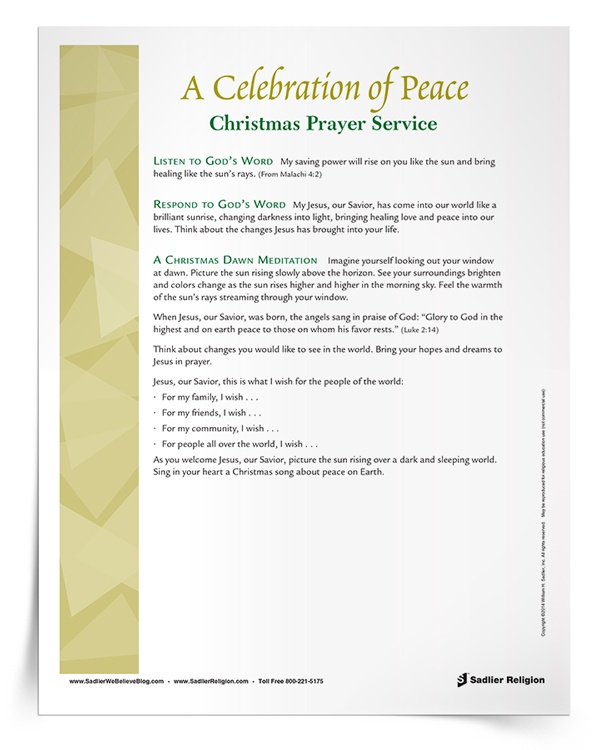 <em>A Celebration of Peace</em> Christmas Prayer Service