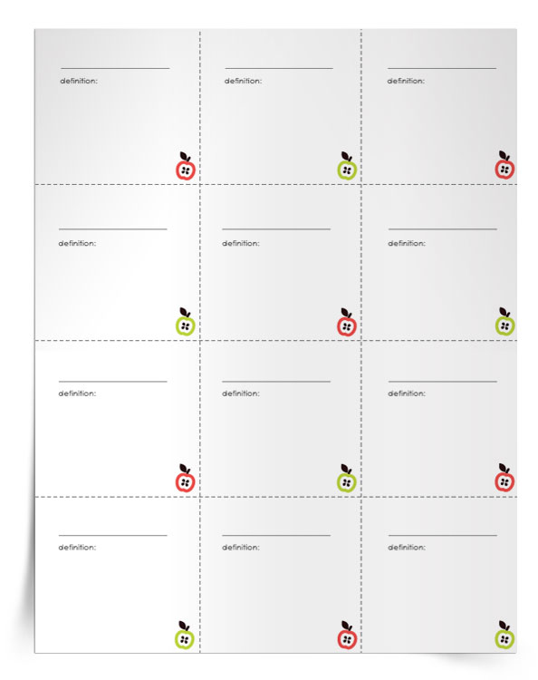 <em>Vocabulary Flashcards</em> Template