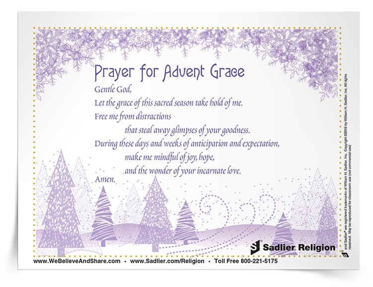 <em>Prayer for Advent Grace</em> Prayer Card