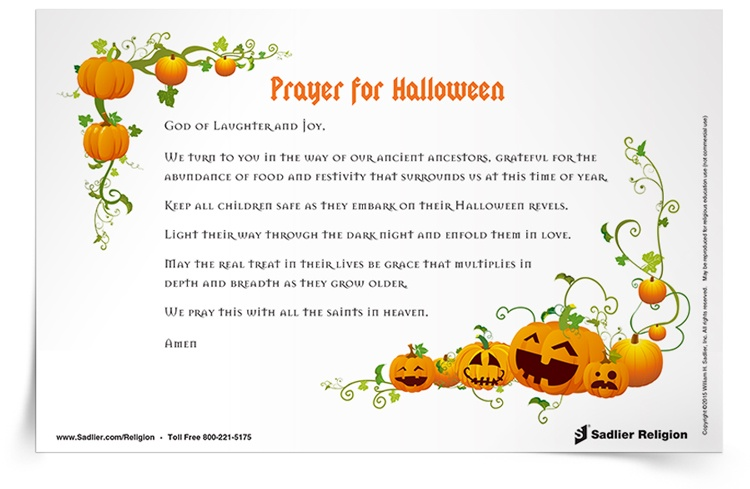 <em>Prayer for Halloween</em> Prayer Card