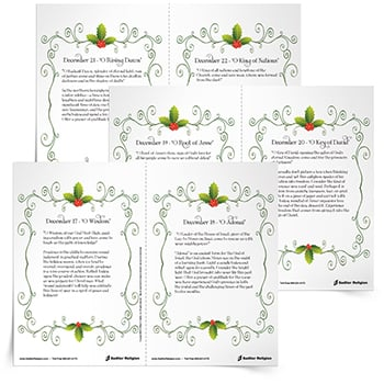 <em>Praying the O Antiphons</em> Reflection Cards