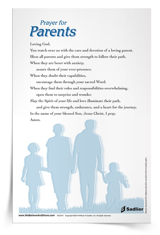 <em>Prayer for Parents</em> Prayer Card