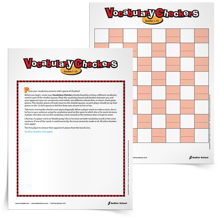 photo regarding Printable Vocabulary Games identified as 17 Printable Vocabulary-Establishing Video games