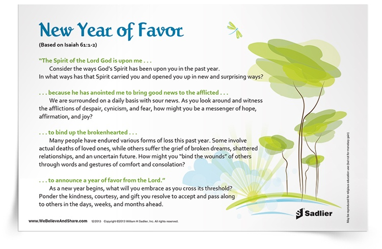 <em>New Year of Favor</em> Reflection