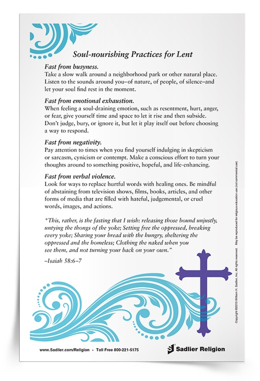 <em>Soul-nourishing Practices for Lent</em> Reflection