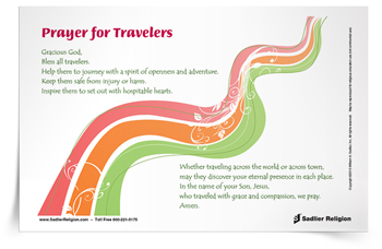 <em>Prayer for Travelers</em> Prayer Card