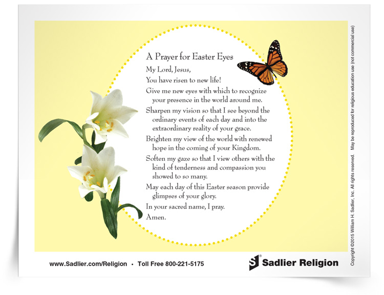 <em>Prayer for Easter Eyes</em> Prayer Card