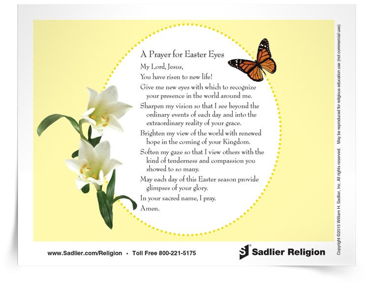 <em>Prayer for Easter Eyes</em> Prayer Card