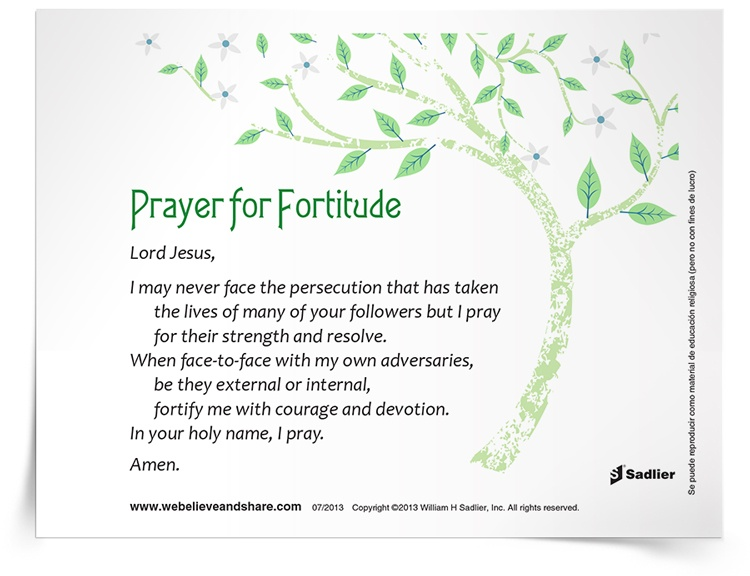 <em>Prayer for Fortitude</em> Prayer Card