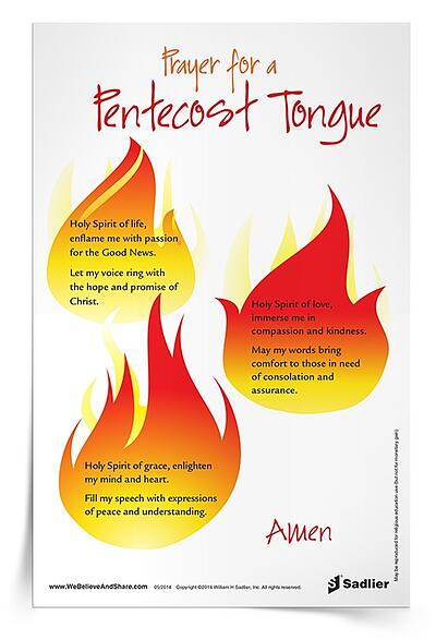 Printable Pentecost Prayers - Prayer for Pentecost Tongue