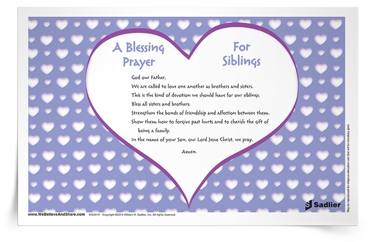 <em>A Blessing Prayer for Siblings</em> Prayer Card