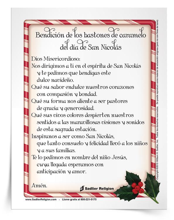 Estampa de oración <em>Bendición de los bastones de caramelo del Día de San Nicolás</em>