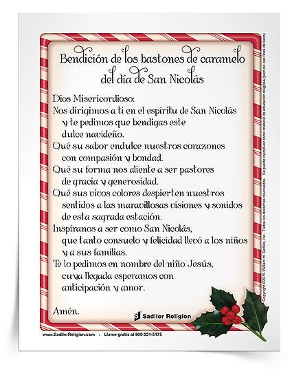 Bendición de los bastones de caramelo del Día de San Nicolás