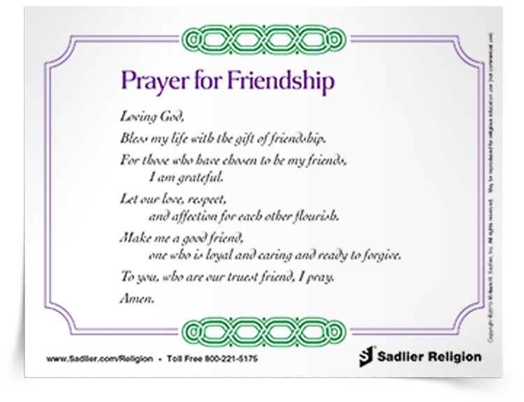 <em>Prayer for Friendship</em> Prayer Card
