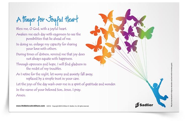 <em>Prayer for a Joyful Heart</em> Prayer Card