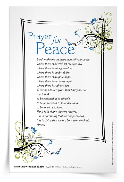 <em>Prayer for Peace</em> Prayer Card