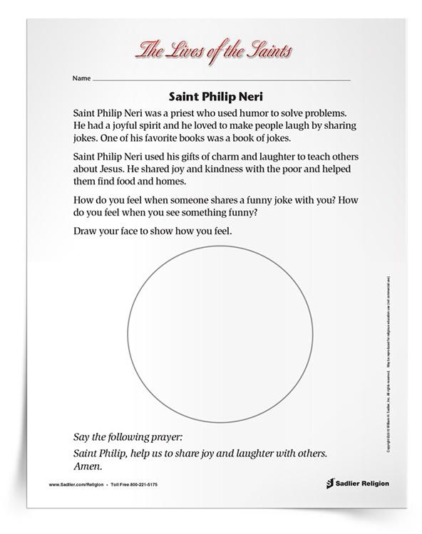 <em>Saint Philip Neri</em> Activity