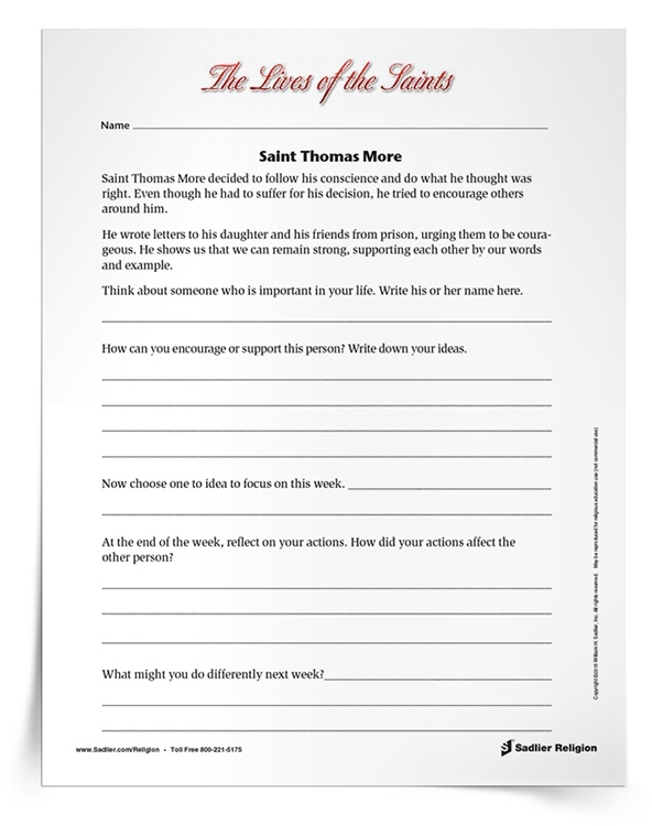 <em>Saint Thomas More</em> Activity