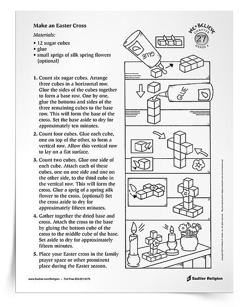 Download a primary activity in which children make an Easter cross.